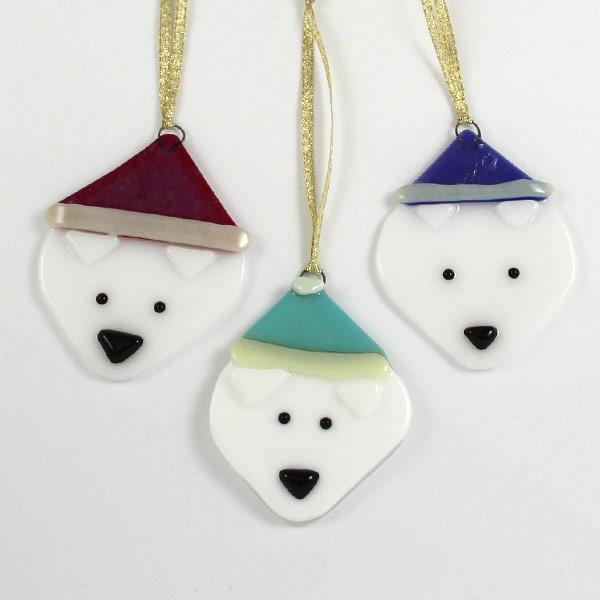 Ornament Polar Bear by Janet Crosby