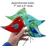 Garden Bird Sizes by Janet Crosby