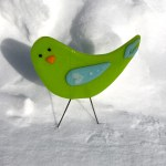 Garden Birds - Green Bird Love by Janet Crosby