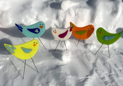 Garden Birds - Mini Flock by Janet Crosby