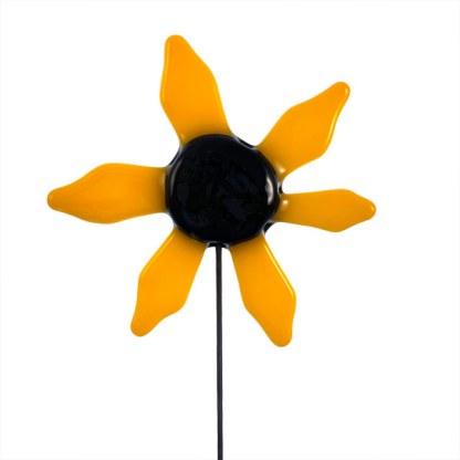 Garden Stake - Yellow Dahlia