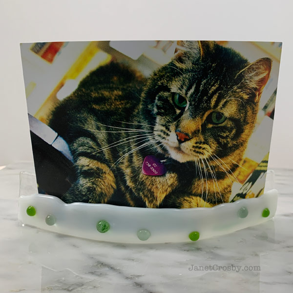 Fused Glass Photo Frame by Janet Crosby