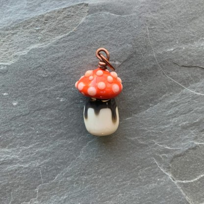 Mushroom Charm - by Janet Crosby