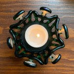 Snowflake tealight - Mossy