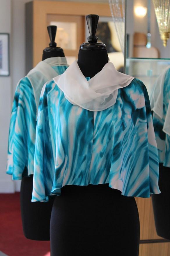 Janet Deleuse Couture Cape, Italian Silk
