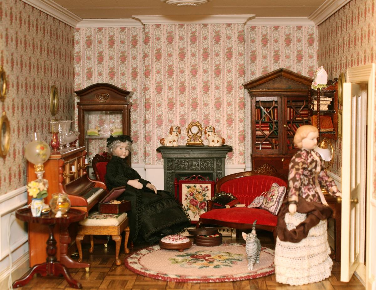Janet S Dollshouse Dollhouse Needlepoint Kits