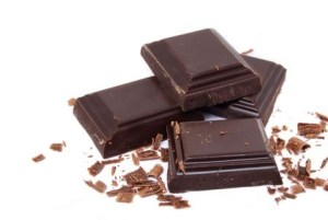 four chocolate squares and one is crumbled