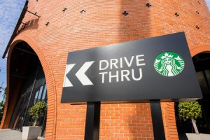starbucks coffee drive thru