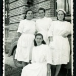 black and white picture of Russian nurses in the 1950s