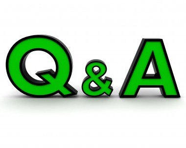 A green capital letter of Q and A