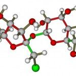 a grid sketch of a molecule
