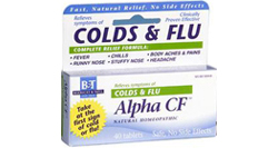 a box of Swedish homeopathic remedy Alpha CF