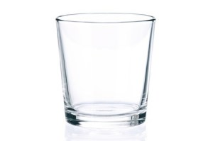 an empty glass