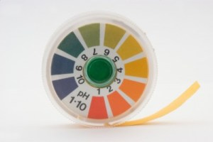 a roll of pH test strips