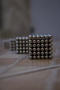 a block of round magnets stuck together.
