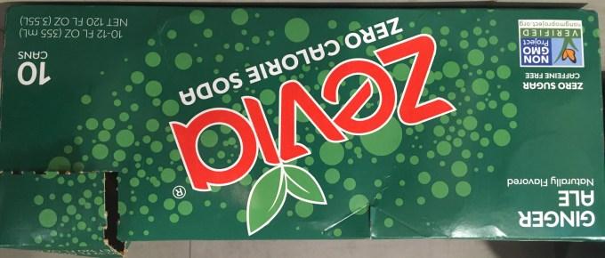 a carton of zevia soft drinks made with stevia.