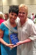Janet with Chonda Pierce After Receiving Award