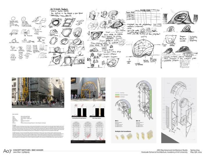 A07 Concept sketches + bike parking