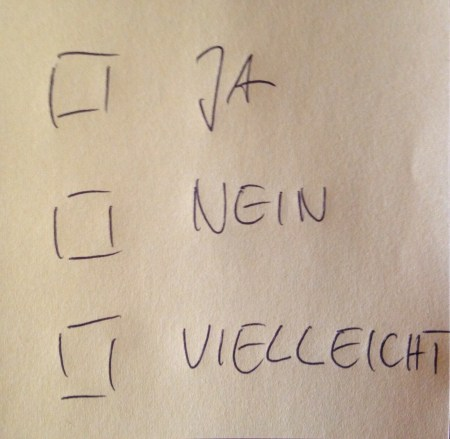 Ja Nein Vielleicht - Jan Göritz - Heilpraktiker für Psychotherapie und Psychologischer Berater in Hamburg