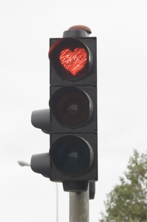 Ampel mit Herz
