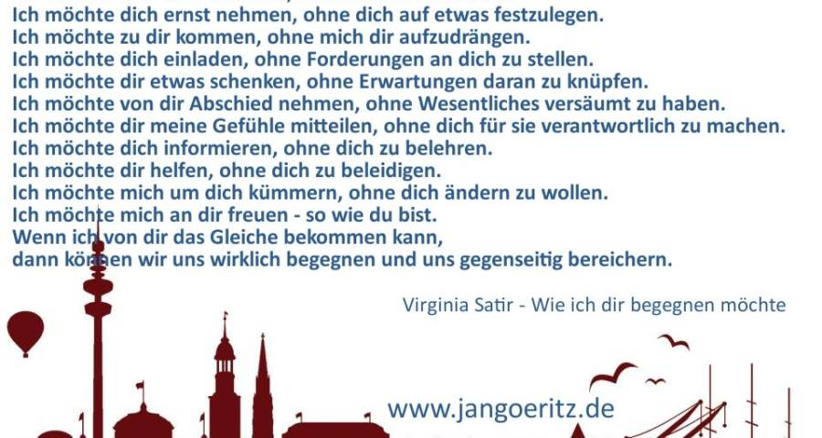 Virginia Satir - Wie ich dir begegnen möchte - Jan Göritz - Heilpraktiker für Psychotherapie und Psychologischer Berater in Hamburg