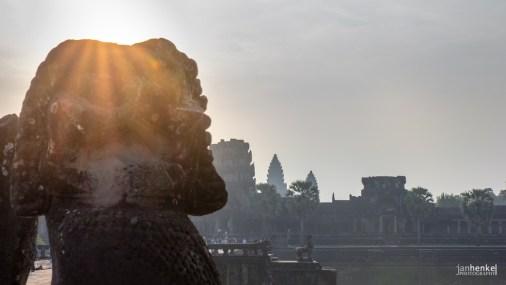 Statuen in Angkor