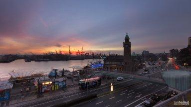 Sonnenuntergang Landungsbrücken