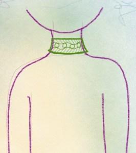 Halsband zeichnen - 3 Minuten Kreativkurs
