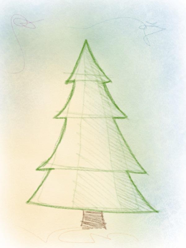 weihnachtsbaum zeichnen – 09
