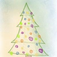 Weihnachtsbaum (Tannenbaum) zeichnen - so geht's