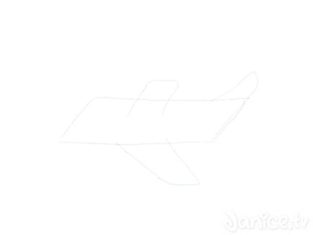 Flugzeug Zeichnen Heckruder