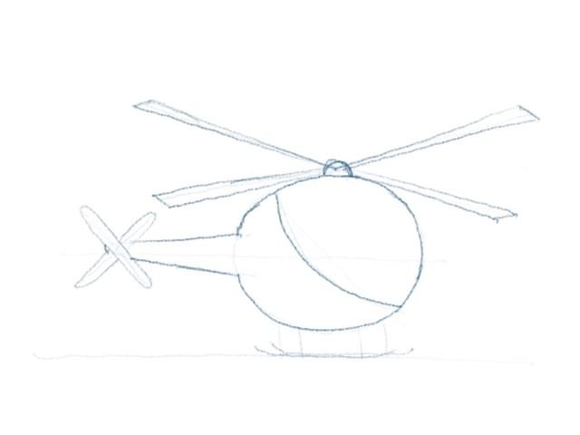 Hubschrauber zeichnen - Konturen zeichnen Teil 1