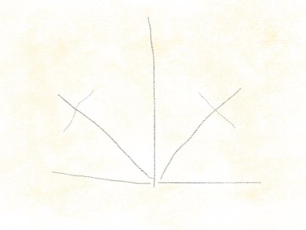 Kastanienblatt zeichnen – 04