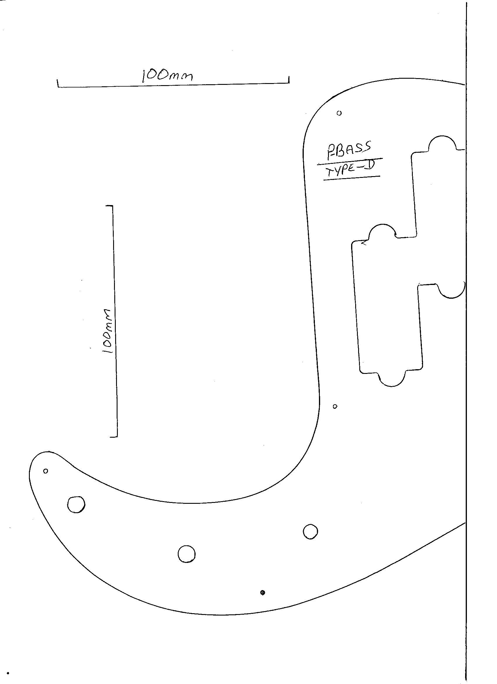 Precision Bass Electric Guitar Pickguard Solid Black Scratch Plate Pb Bbb D New