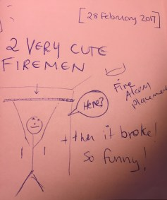 A funny memory of the day two firemen visited