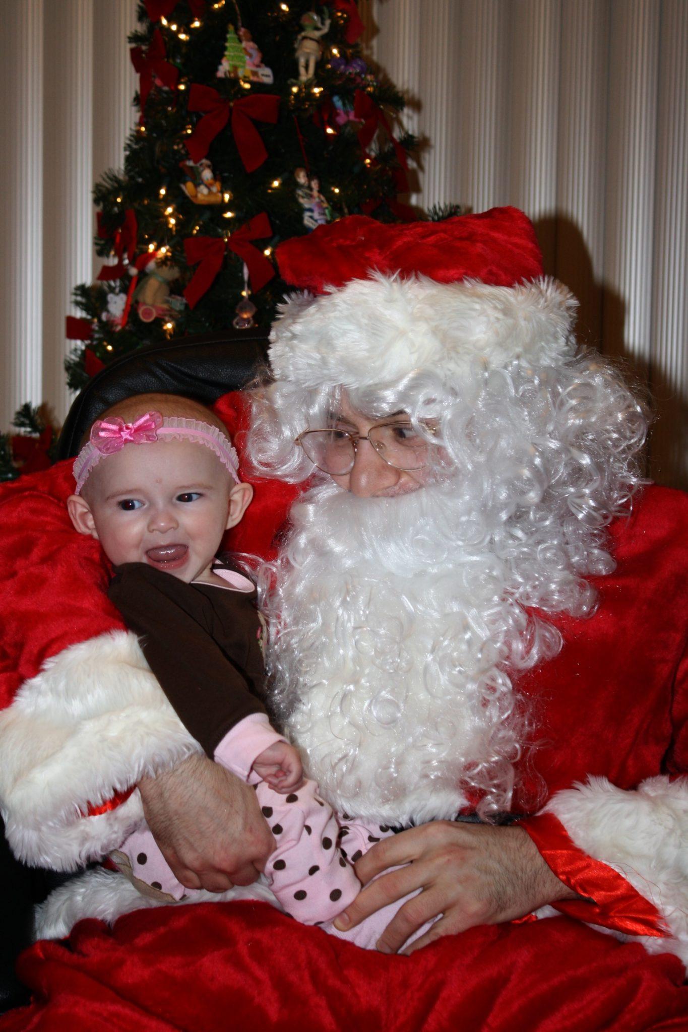 Emma and Santa Michael Circa 2009