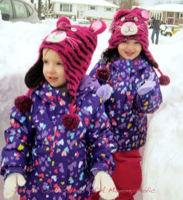 Sisters playing in the snow!!