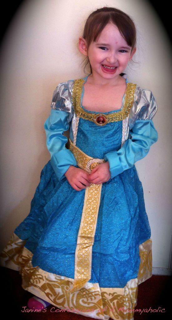 Emma Wearing Merida Costume