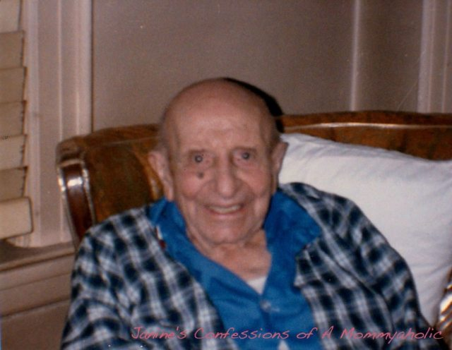 My great-grandfather much later in his life and many years after the first picture was taken.  Still smiling!!