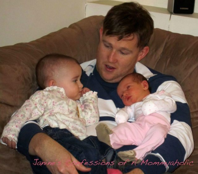 Daddy, Emma and Lily--Dec. 2010