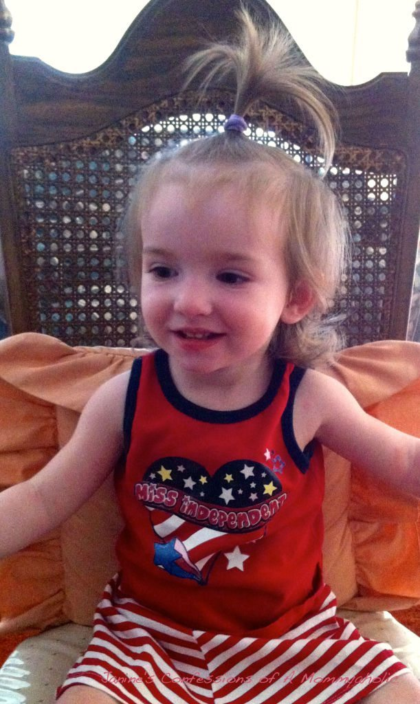 Lily Last Year Fourth of July, Too!!