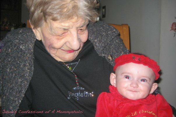 Christmas 2009--Emma and My Grandmother (2 Months Before She Passed Away).