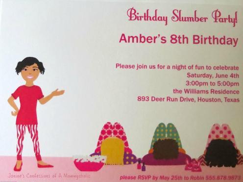 Slumber Party Theme