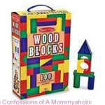 100-Pc Wood Blocks Set