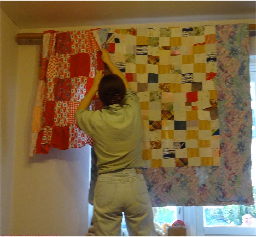 Save by Hanging a Quilt-less Curtain