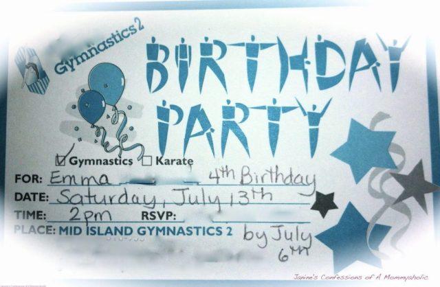 Emma's 4th Birthday Party Invite