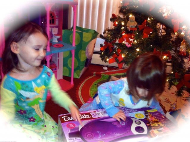 The Girls Opening Up the Easy Bake Oven Last Christmas!