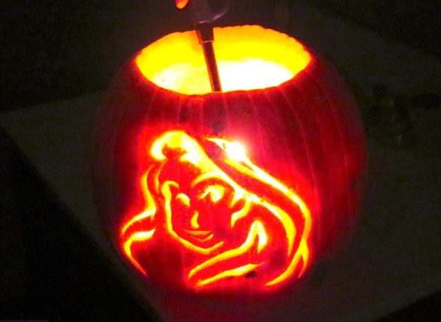 Rapunzel Carved Pumpkin for Lily