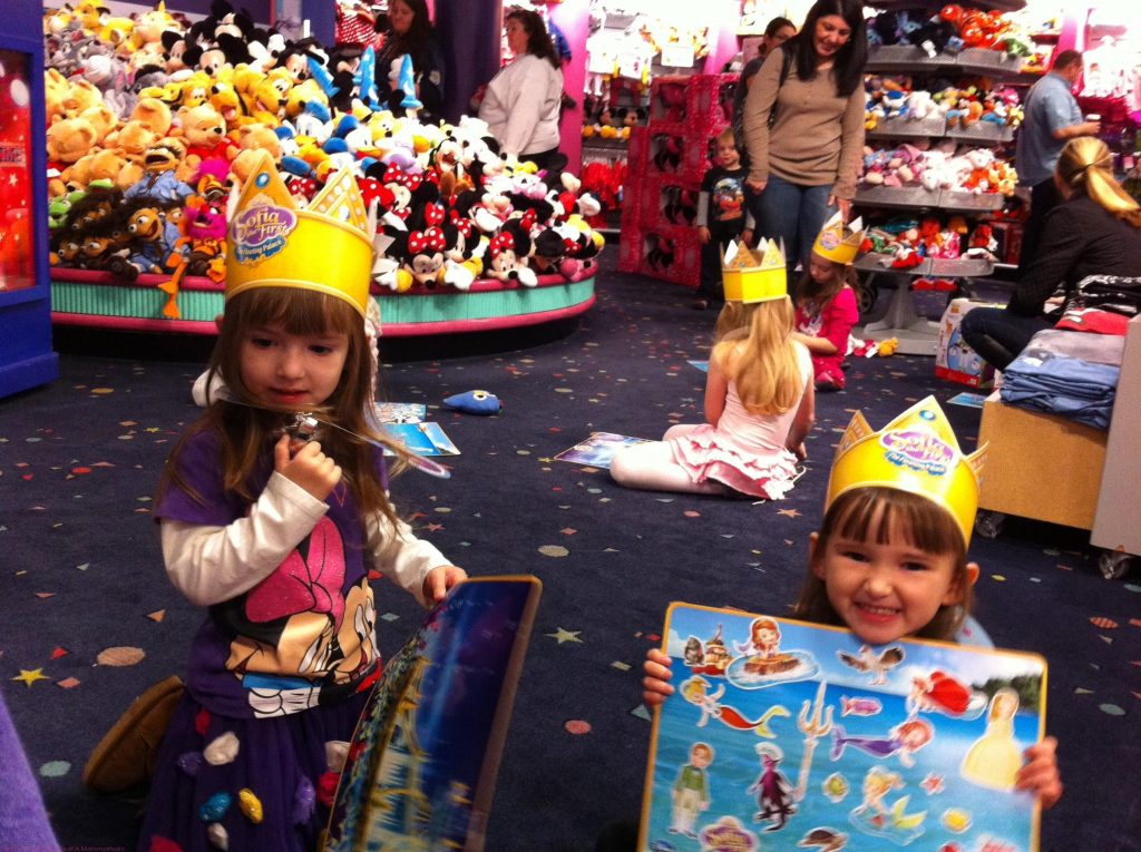 The Girls So Happy At Princess Sofia's Disney Store Celebration