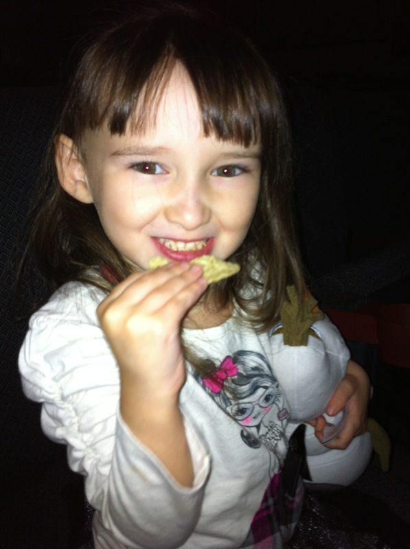 Emma Eating Nachos Before the Show